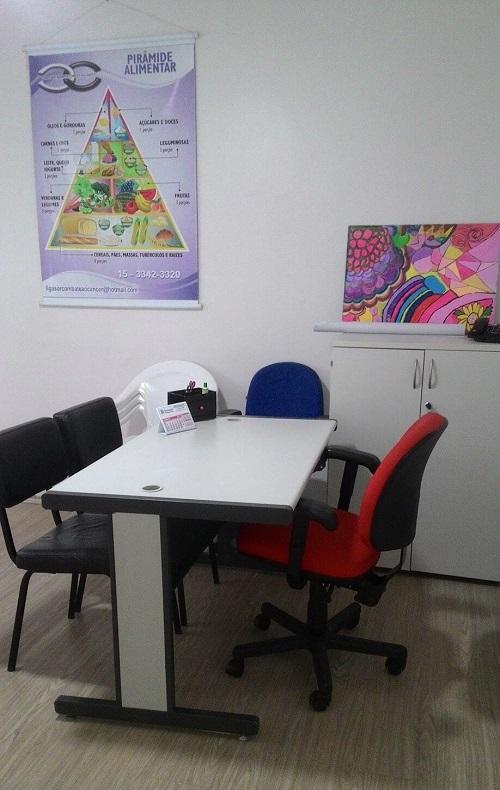 Sala de atendimento da Liga Sorocabana de Combate ao Câncer